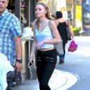 Lily Rose Depp out shopping at The Grove in Hollywood