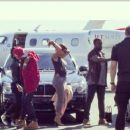 Blac Chyna, Tyga, Kim Kardashian, Kanye West, Kourtney Kardashian, Robin, and Jonathan Cheban Headed to Vegas - October 25, 2013
