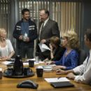 (l to r) Katherine Heigl, Gerard Butler, Nick Searcy, Bree Turner, Cheryl Hines and John Michael Higgins in Columbia Pictures' comedy THE UGLY TRUTH. Photo By: Saeed Adyani. © 2009 Columbia Pictures Industries, Inc. All rights reserved.