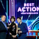 Woody Harrelson, Lizzy Caplan and Jesse Eisenberg during The 2016 MTV Movie Awards