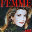 Catherine Deneuve - Femme Magazine Cover [France] (September 1989)