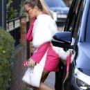 Rita Ora in Pink Dress out in London