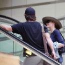 Diane Lane and Josh Brolin depart from LAX