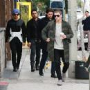 Nick Jonas spotted with his brother in West Hollywood, California on January 11, 2016