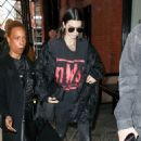 Kendall Jenner arriving at The Mercer Hotel in Manhattan (February 16, 2017)