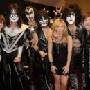 Kiss backstage at the 47th Annual Academy Of Country Music Awards held at the MGM Grand Garden Arena on April 1, 2012 in Las Vegas, Nevada - 454 x 308