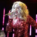 Kylie Minogue Performs At A Dolly Good Xmas At Cedar Lake In New York