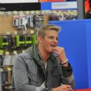 Alexander Ludwig attended the midnight release of The Hunger Games on DVD and Blu-Ray, August 17, in Miami