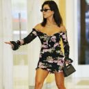 Kourtney Kardashian in Floral Mini Dress – Out in Los Angeles