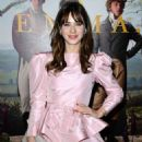 Zooey Deschanel – In Pink Short dress at 'Emma' premiere in Los Angeles - 454 x 613