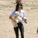 Lucy Hale – With her dog at a dog park in LA