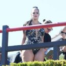Ashley Graham in Swimsuit for Her Swimsuit Line in Los Angeles - 454 x 418