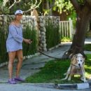 Regina King – Takes her dog out for a walk in Los Angeles - 454 x 351