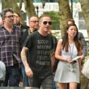 """Corey Taylor attends the """"You're Making Me Hate You"""" Book Reading, Hosted By Lou Brutus at Bryant Park Reading Room on July 8, 2015 in New York City."""