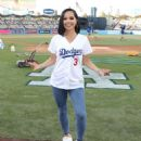 Becky G – Sings the National Anthem at Dodger Stadium in Los Angeles