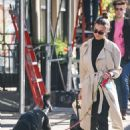 Emily Ratajkowski – Out for a stroll with Colombo in New York
