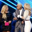 Demi Lovato, Chris Brown and Rita Ora At The 2012 MTV Video Music Awards