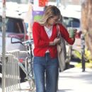 Emma Roberts in Red Sweaters – Out in Los Angeles
