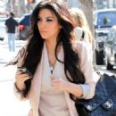 Kim Kardashian Gets Pampered, Talks Spin Crowd