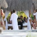 Cara Delevingne in Black Bikini on the beach in Quintana Roo