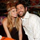 Zachary Levi and Caitlin Crosby