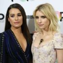 Lea Michele and Emma Roberts – Entertainment Weekly's Popfest at The Reef in Los Angeles 10/30/ 2016 - 454 x 352