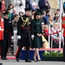 Prince Windsor and Kate Middleton : The Irish Guards St Patrick's Day Parade