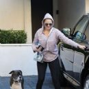 Kate Upton – Leaves her house with her dog in Beverly Hills
