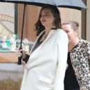 Miranda Kerr in White Coat – Out in Beverly Hills - 454 x 681