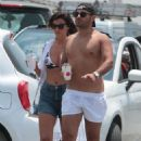 Lucy Mecklenburgh in Bikini Top with Brooke Vincent in Mykonos - 454 x 680