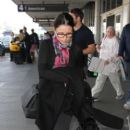 Julia Louis-Dreyfus is seen at LAX