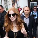 Jessica Chastain Leaving Martinez Hotel in Cannes
