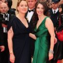 Franka on the red carpet with Julia Ormond.