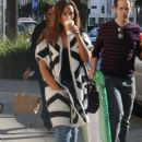 British singer Leona Lewis stops by a Starbucks for a coffee in Beverly Hills, California on December 13, 2014