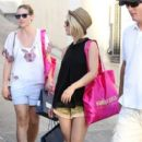 Julianne Hough: goes shopping while on vacation in St Bart's