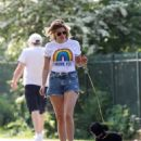 Ashley James – Spotted with her puppy in Local park - 454 x 513