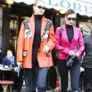 Gigi and Bella Hadid – Leaves Cafe de Flore in Paris