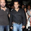 Superstar Salman Khan Arrive at Mumbai 2012