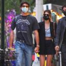 Jacob Elordi and Kaia Gerber – hold hands as they walk to their apartment in New York