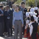 Queen Letizia and King Felipe visit Porenu village, Villaviciosa - 399 x 600