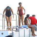 Rihanna: aboard a swanky yacht in Eze Sur Mer