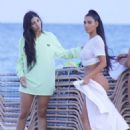 Kim Kardashian in Bikini – Photoshoot at Beach in Miami