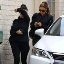 Kourtney Kardashian and Larsa Pippen – Leaving La Scala in Beverly Hills