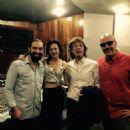 Alain Pérez, Andres Levin and Mick Jagger at Abdala Estudios, in Havana, Cuba