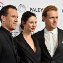 Tobias Menzies, Caitriona Balfe, Sam Heughan- March 12, 2015-Arrivals at the PALEYFEST 'Outlander' Panel