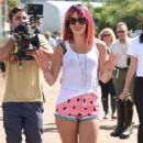 Lily Allen In Shorts At Glastonbury 2014