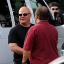 Michael Chiklis arrives at the Hatch Shell along the Charles River in Boston this evening for a dress rehearsal in preparation for tomorrow nights Fourth of July celebration - 431 x 594