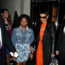 Rihanna: leaving her London Hotel and arriving at Jay-Z's party at The Arts Club in Mayfair