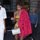 Rihanna Arriving At Nobu Restaurant In Tribeca