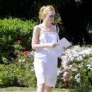 Elle Fanning in White Dress out in LA - 454 x 627